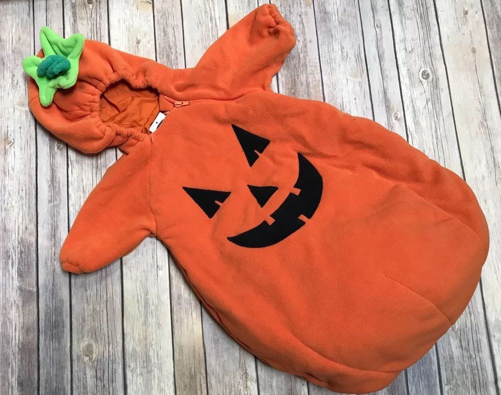 Old Navy One Size Infant Baby Cozy Orange Pumpkin