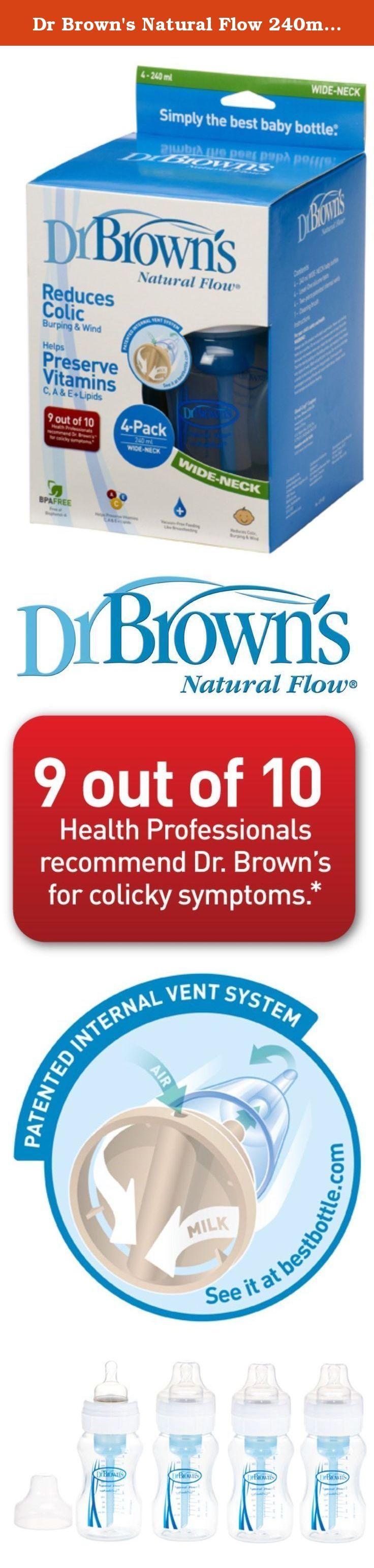 Dr browns natural flow 240ml four pack bottles dr brown