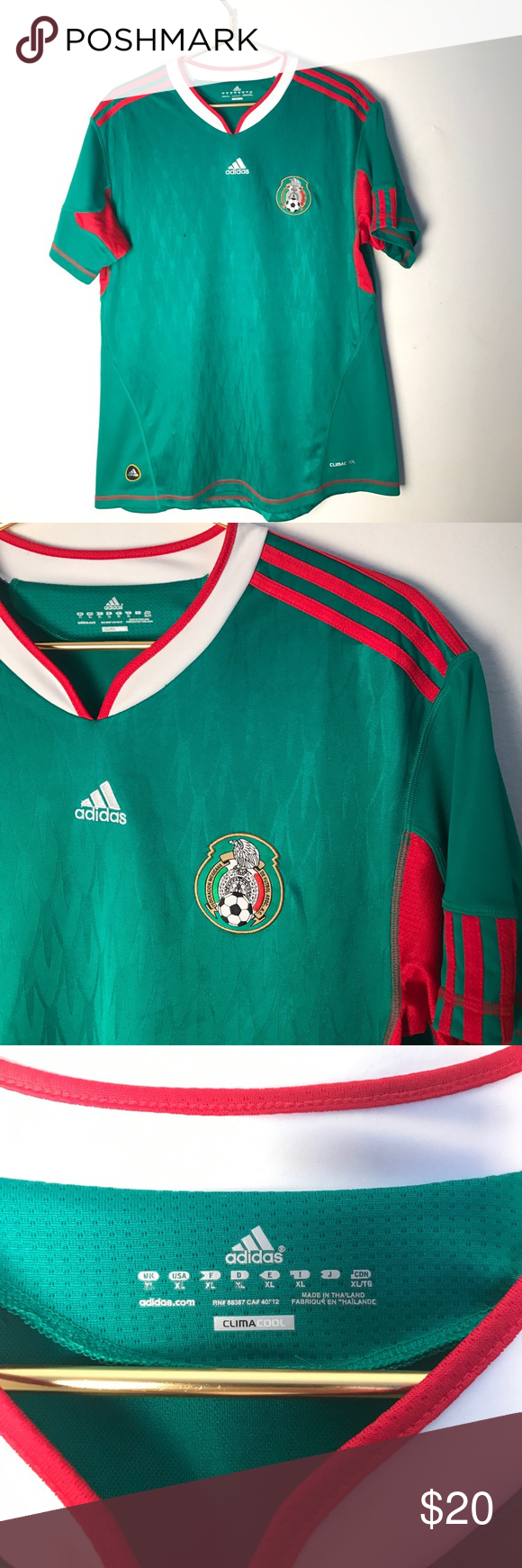 ff7a5e4a9 Mens adidas Mexico national soccer jersey Size XL with minor stain  pictured. Men s national Mexico soccer team jersey by adidas adidas Shirts  Tees - Short ...