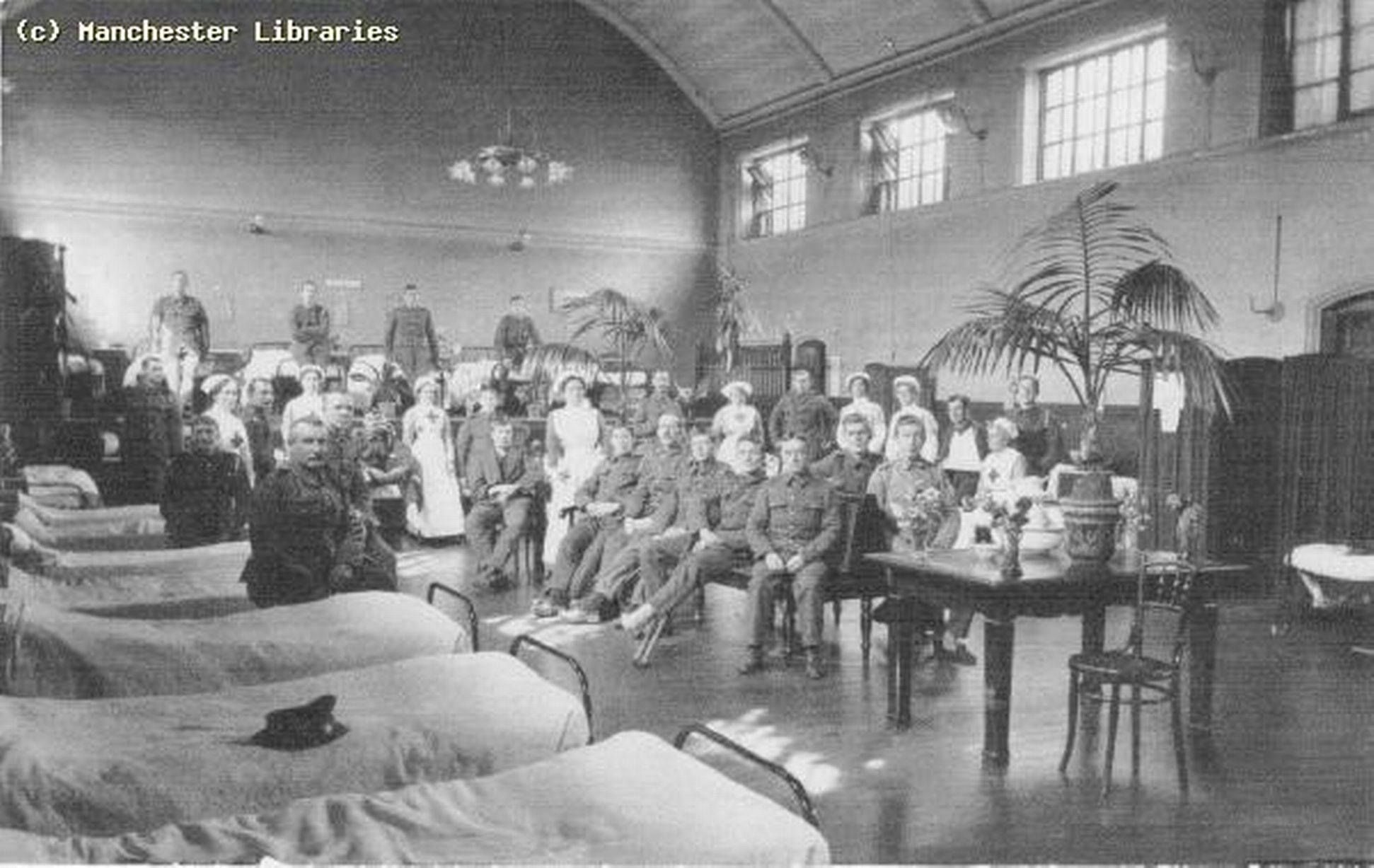 1st world war soldiers recovering in blackley institute