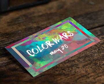 Color Wars Youth Event Invite Card Invitaciones De Fiesta