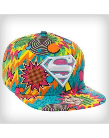 Superman Colors Snapback Hat  93f62c63a08