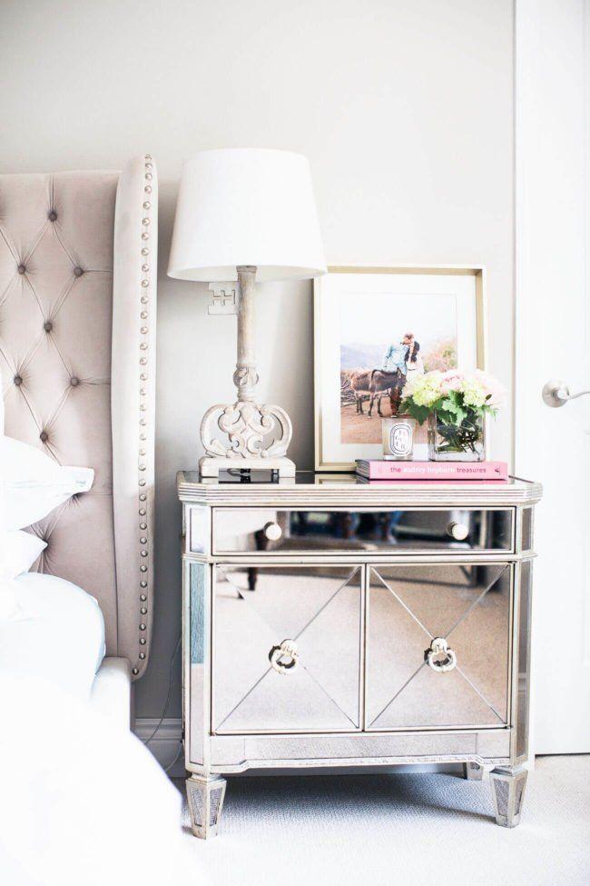Borghese Mirrored Nightstand Ideas Decoracion Dormitorios