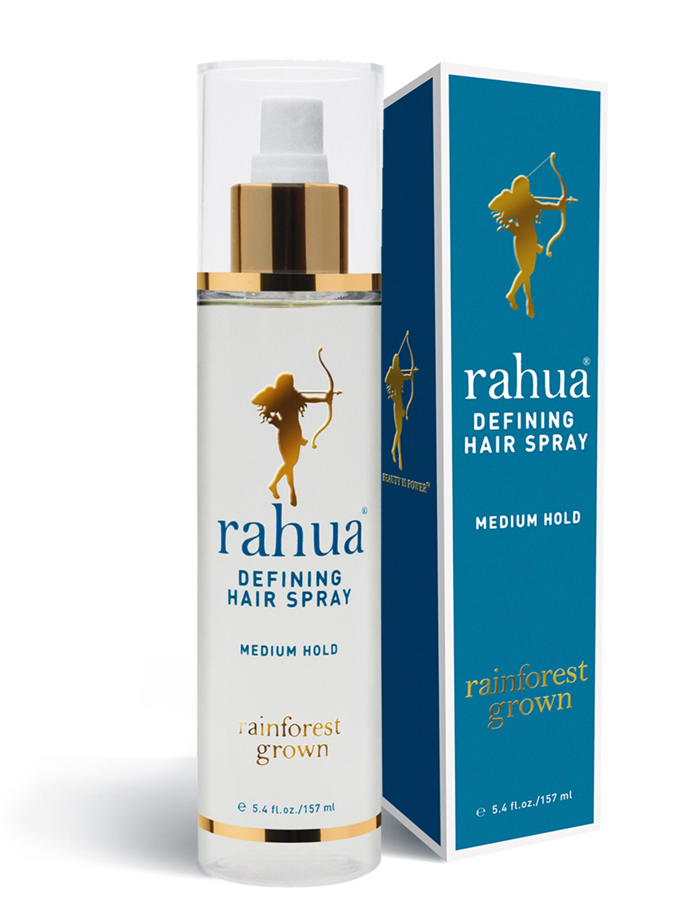 This medium hold, fast drying, non-aerosol Defining Hair Spray is 90% natural – unheard of for a hairspray! Made with organic ingredients, Rahua Defining Hair Spray creates definition, hold and lasting, touchable style. This brushable hair spray allows for re-styling throughout the day, but the hold is strong enough to use with any type of styling device, from high-tech to low-tech. Rahua's Defining Hair Spray helps mitigate UV rays, and is color safe, vegan and gluten free.