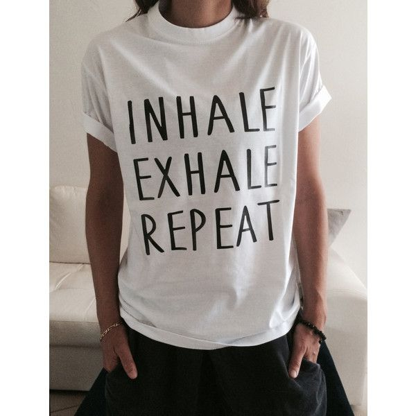 2ee95da33 Inhale Exhale Repeat T-Shirt for Yoga Funny Yoga Top Women Girl Yogi...  ($15) ❤ liked on Polyvore