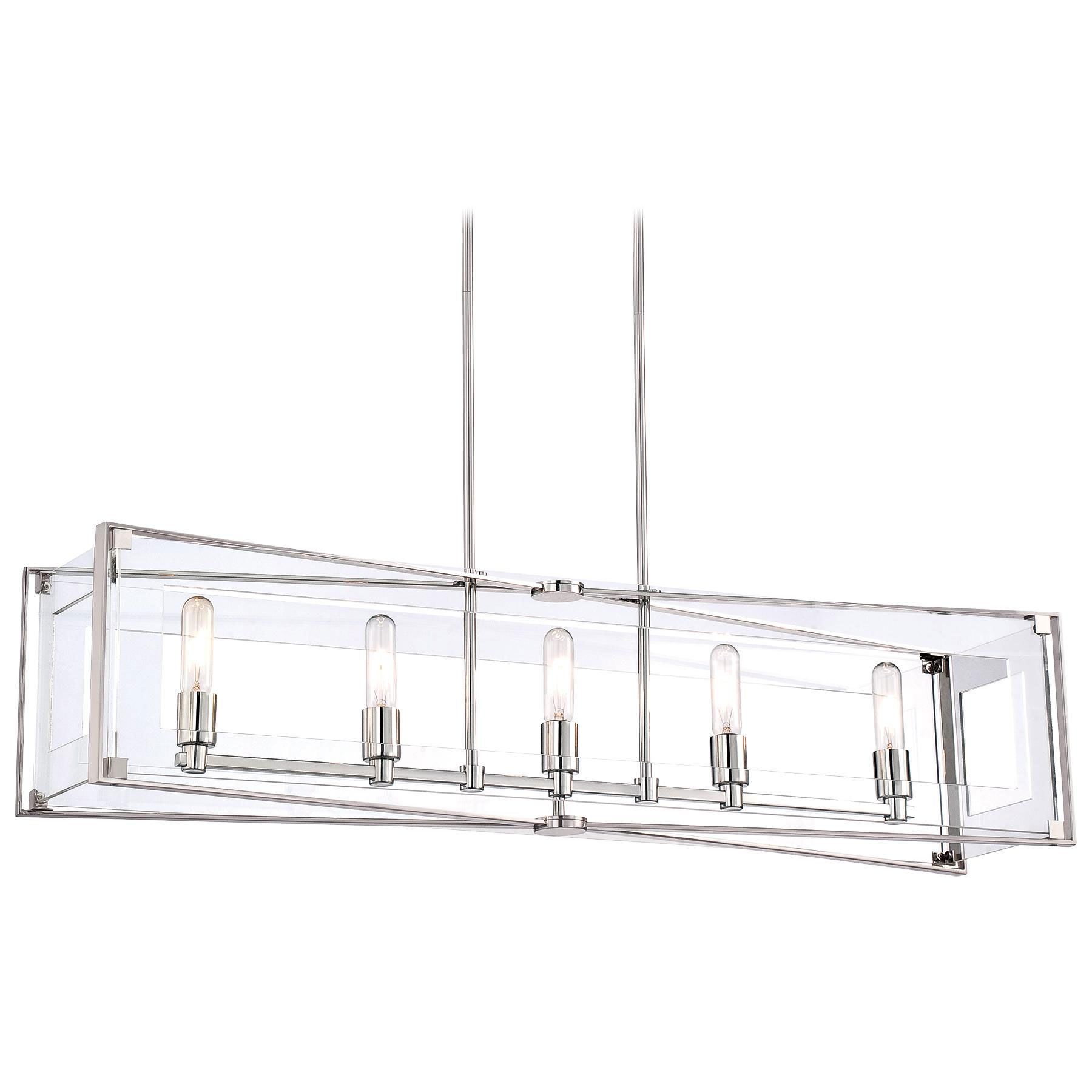 Crystal Clear Linear Pendant by George Kovacs