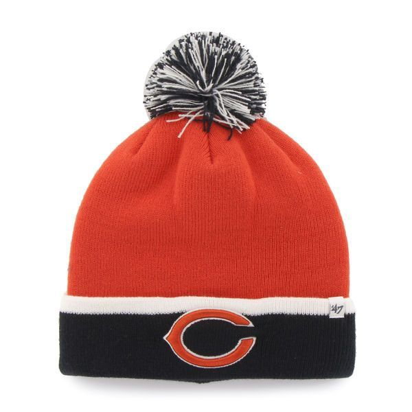 4922eb7ccef Size is a One Size Fits All - Embroidered on the front is a Chicago Bears  logo. - Top Quality Baraka Style Knit Cuffed Winter Beanie Hat Cap with  Poofball.