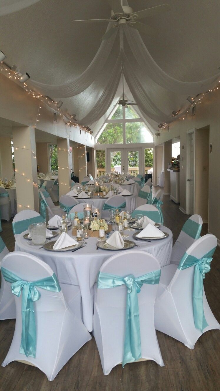 Cieling Drape For An Intimate Beach Wedding Pelican Clubhouse Satellite Fl Www Aneventtorememberdd