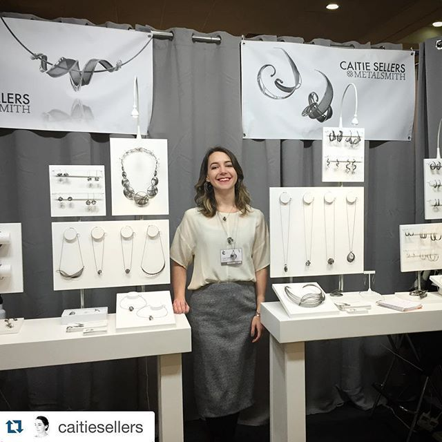 Acc Craft Show Booth Display Caitie Sellers White And