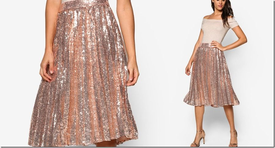 9cf317eb4c71 Shine Literally In These Sparkly Party-Ready Pleated Midi Skirts ...