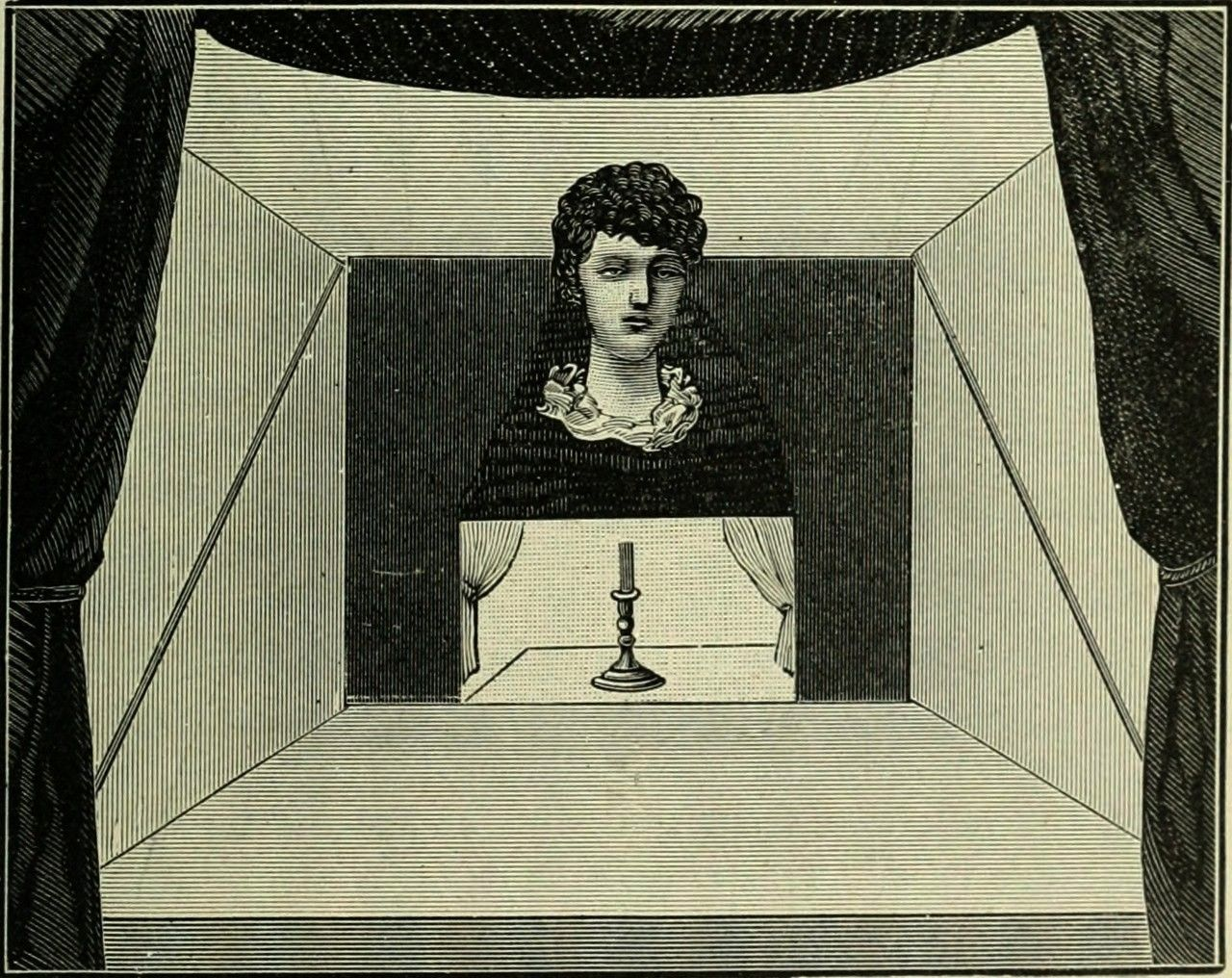 head in the center of a stage Magic stage illusions and scientific diversions  An isolated head in the center of a stage Magic stage illusions and scientific di...