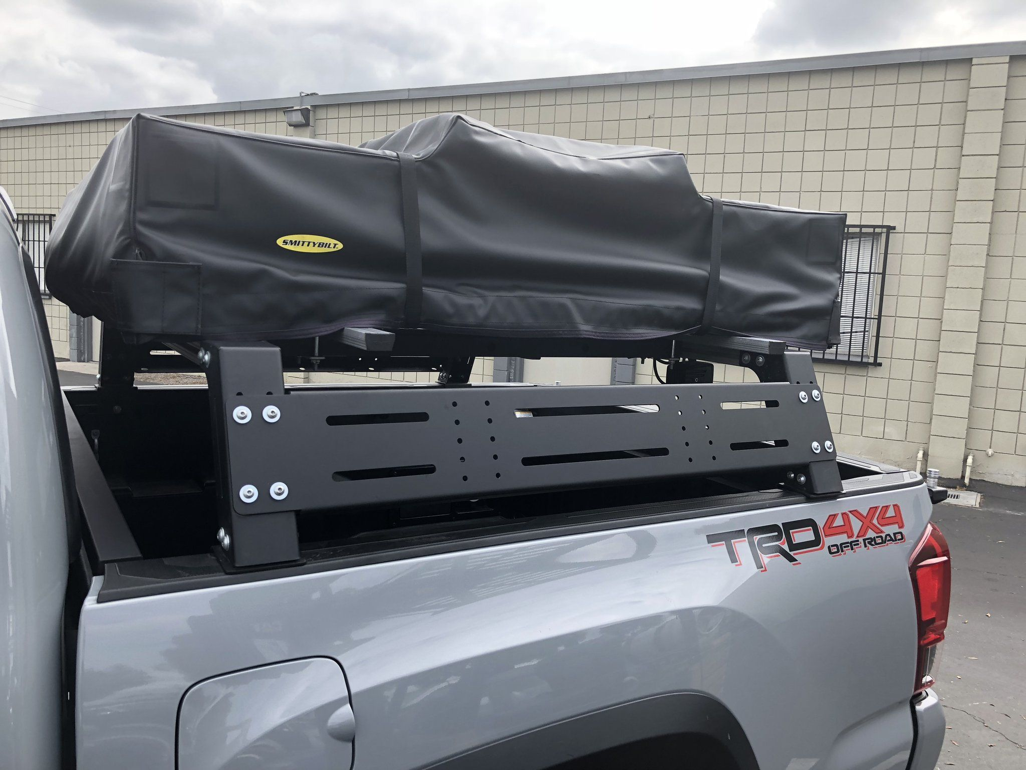 Overland bed racks in low, mid and tall heights for both