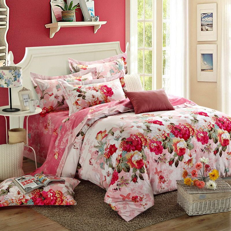 We Only Choose Best Cotton Duvet Covers Marriage Bed Bedding Sets Queen Size Quilt Cover Cotton Bed Sheets Pillowcase Couv Bedding Sets Bed Chic Bedroom Design