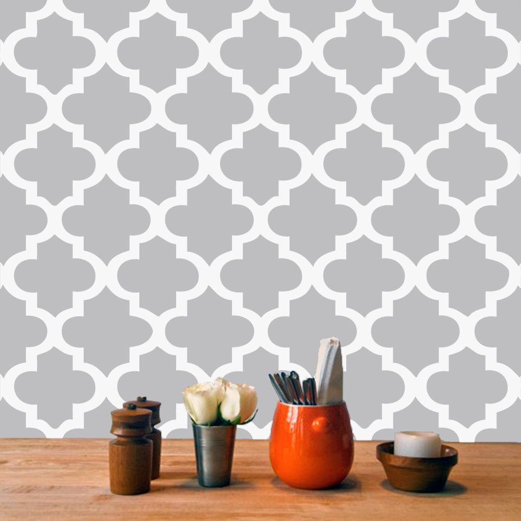 Moroccan Tile Wall Decal Sheet Wall Decals Kitchen Makeovers - Custom vinyl wall decals for kitchen backsplash