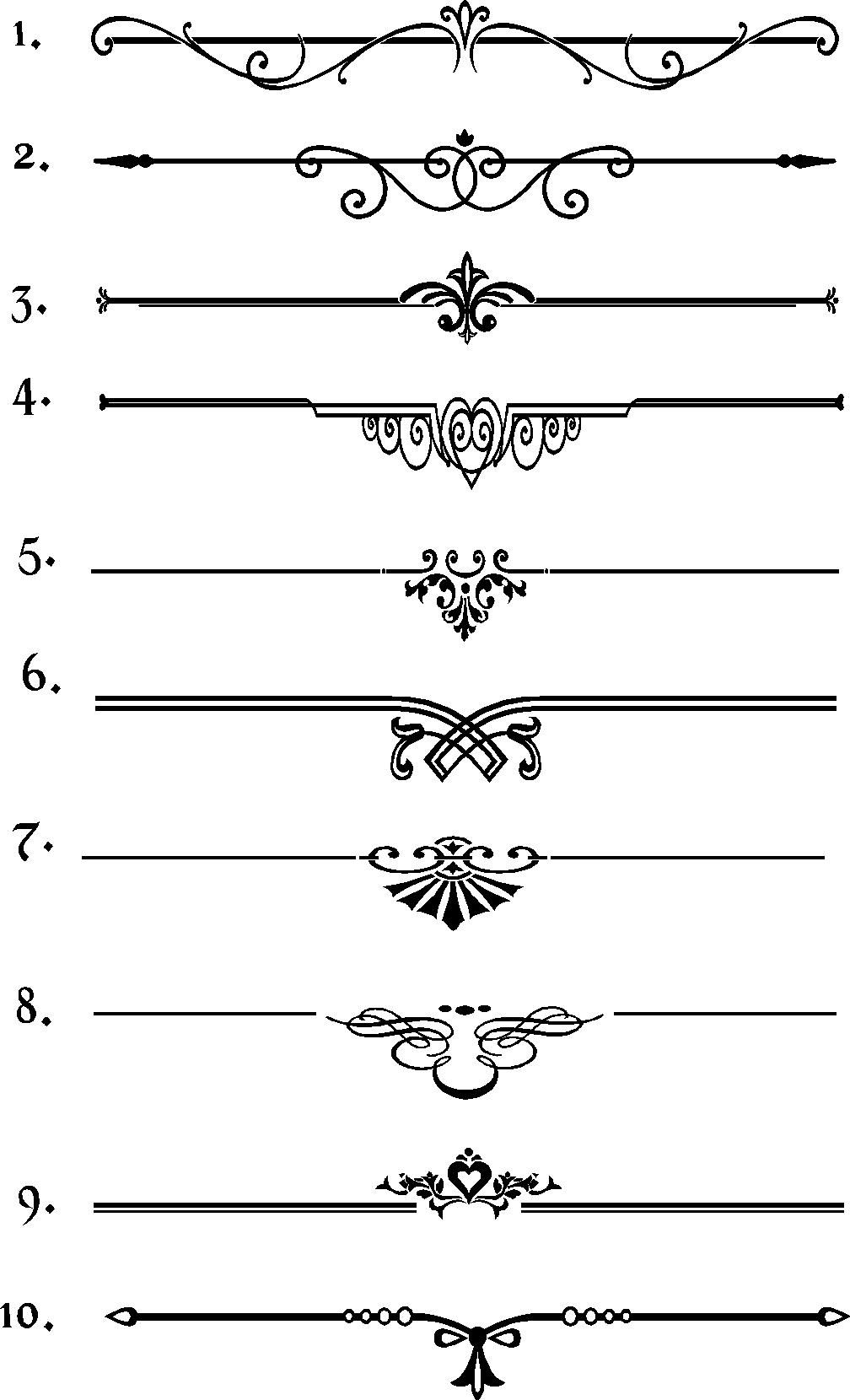 Rule Linesborders Crafts Printables Calligraphy Borders Line