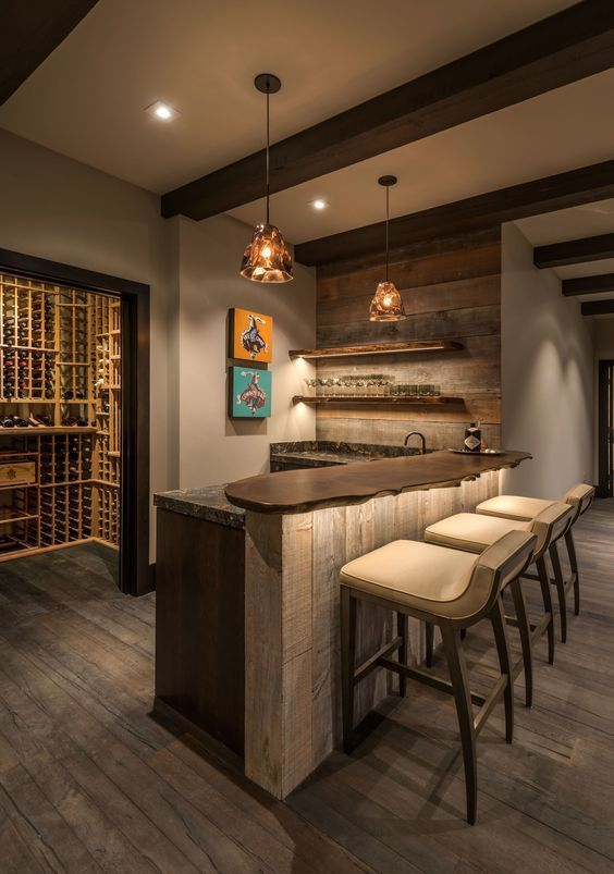 16 Awe Inspiring Rustic Home Bars For An Unforgettable Party: Basement Bar Designs, Diy Home Bar, Home Bar Designs