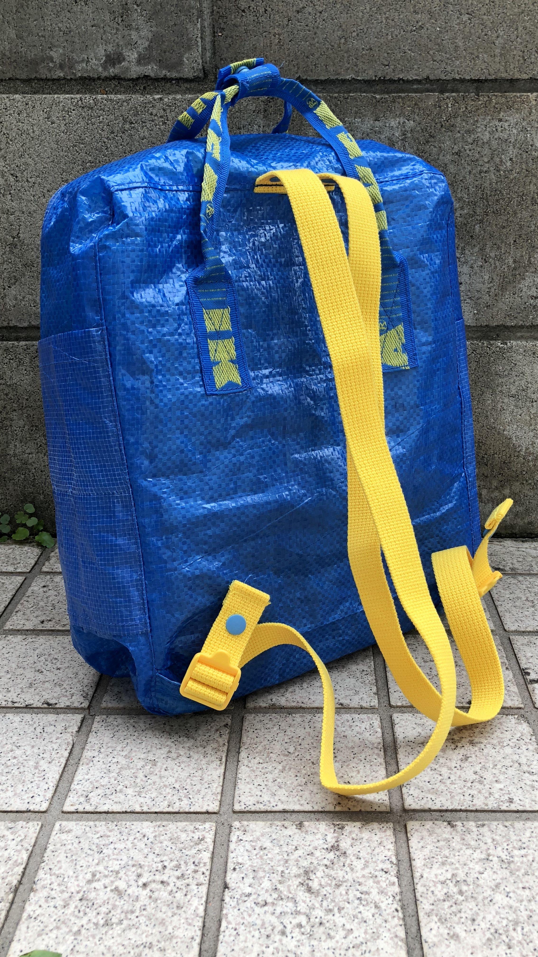 Ikea Backpack Kanken Backpack Knockoff Verypurpleperson In 2020 Diy Backpack Pattern Upcycled Bag Kanken Backpack