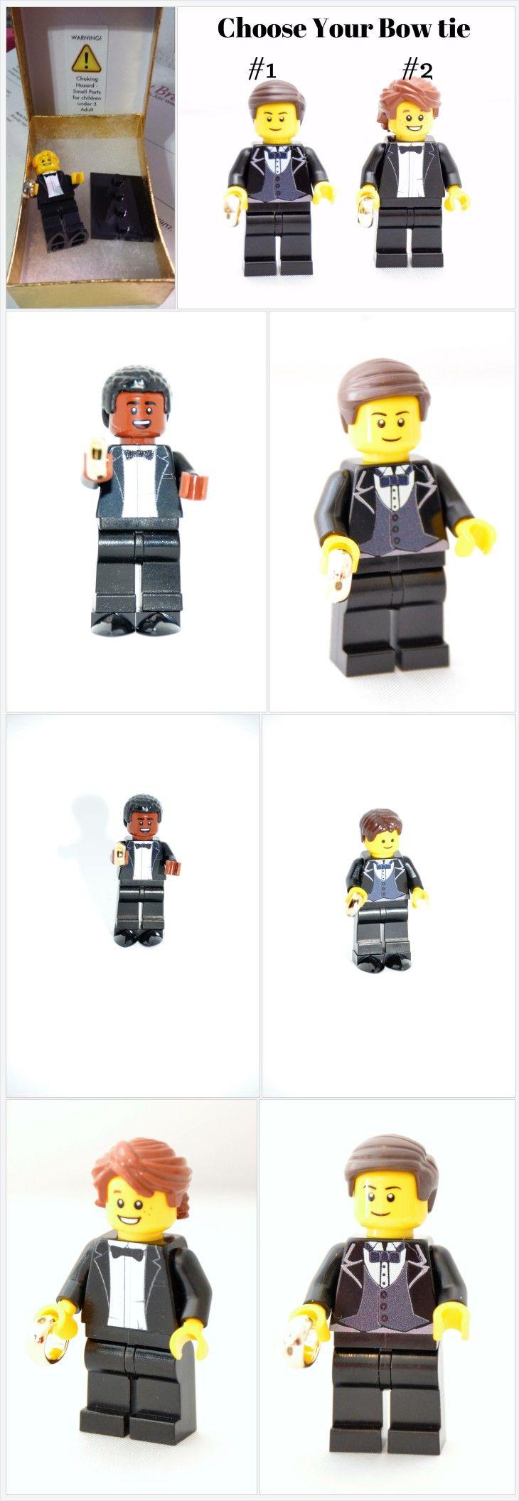 Custom Lego Minifigure Groom or Ring Bearer Choose your