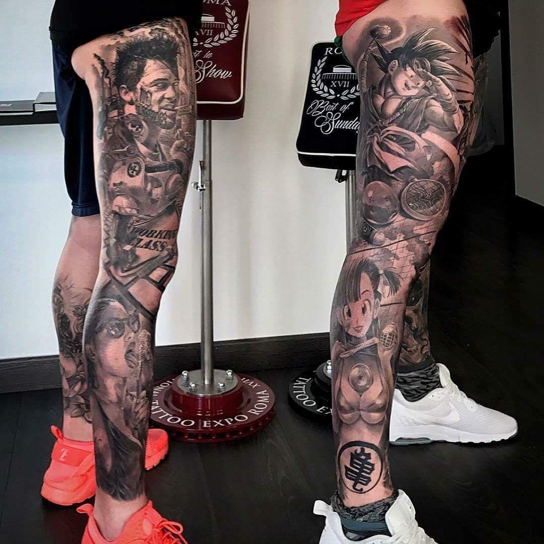 Leg sleeve tattoo by mix sture on tattoo ideas sweet