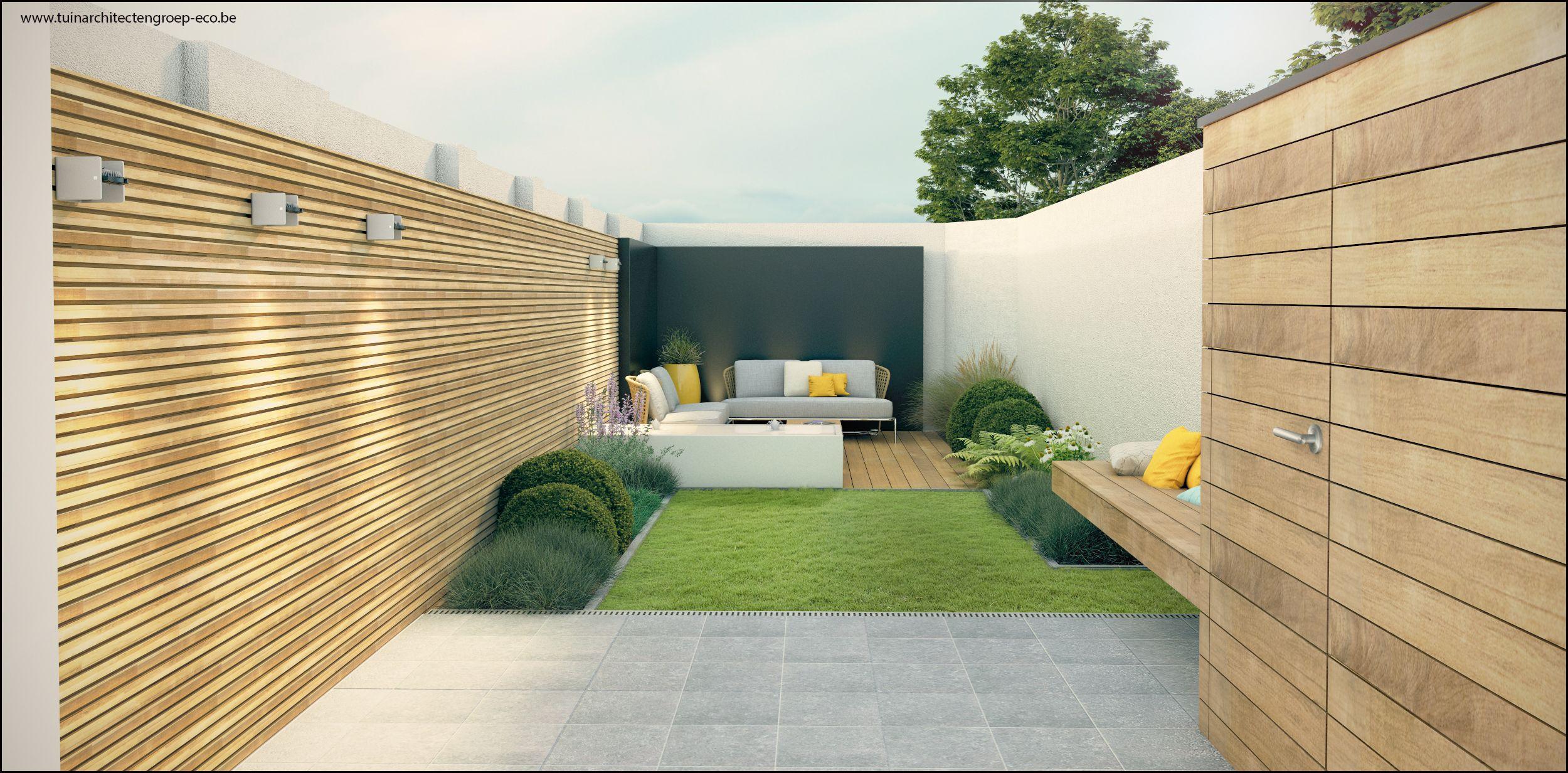 Tuinontwerp kleine stadstuin tuinarchitect timothy cools firma tuinarchitectengroep eco bvba - Lay outs deco tuin ...