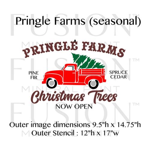 Country Pines Christmas Tree Farms: Pringle Farms Christmas Trees & Truck Seasonal Stencil