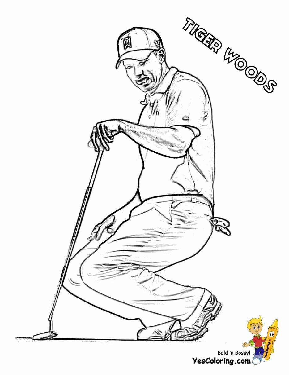 Two Fisted Golf Coloring Sports Coloring Pages Kids Golf Golf