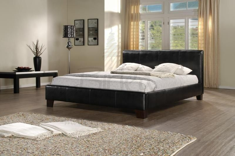 Best Bed Frames And Headboards Birlea Brooklyn Black Leather 400 x 300