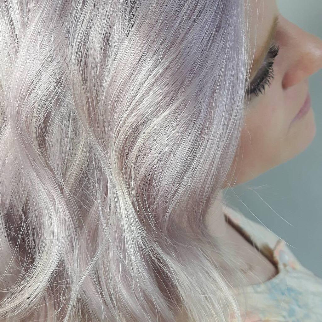 Pastel Purple Lilac Platinum Blonde Hair From Saab Salon Spa