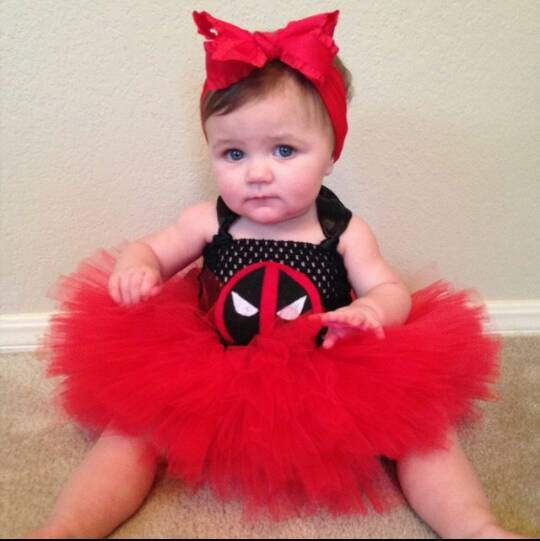 Deadpool Marvel Comics Super Hero Halloween Birthday Cosplay Etsy Toddler Girl Halloween Baby Costumes Girl Toddler Costumes Girl
