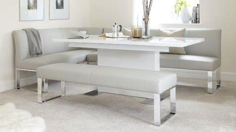 Large Family Modern Corner Bench Unit Small Dining Room Set