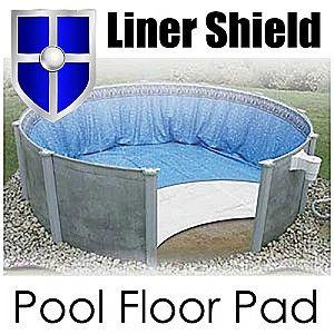 Liner shield pool floor bottom pad
