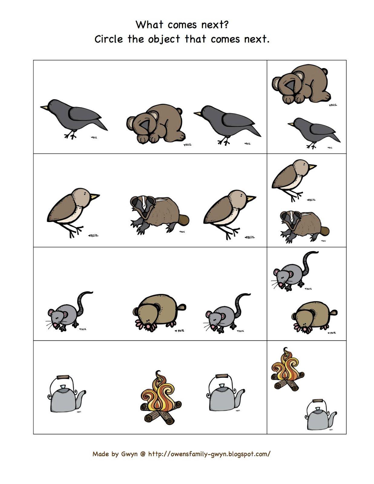 Preschool Printables Bear Snores