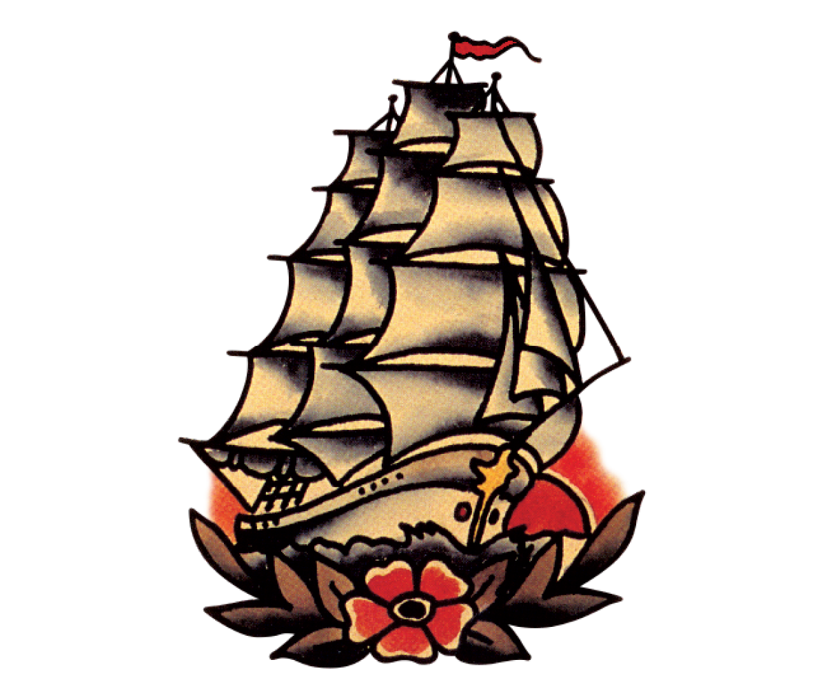 traditional ship tattoo flash images galleries with a bite. Black Bedroom Furniture Sets. Home Design Ideas