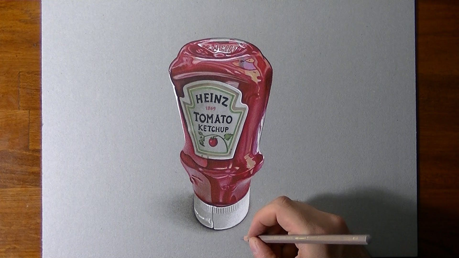 How I Draw A Heinz Tomato Ketchup Bottle Bottle Drawing Ketchup