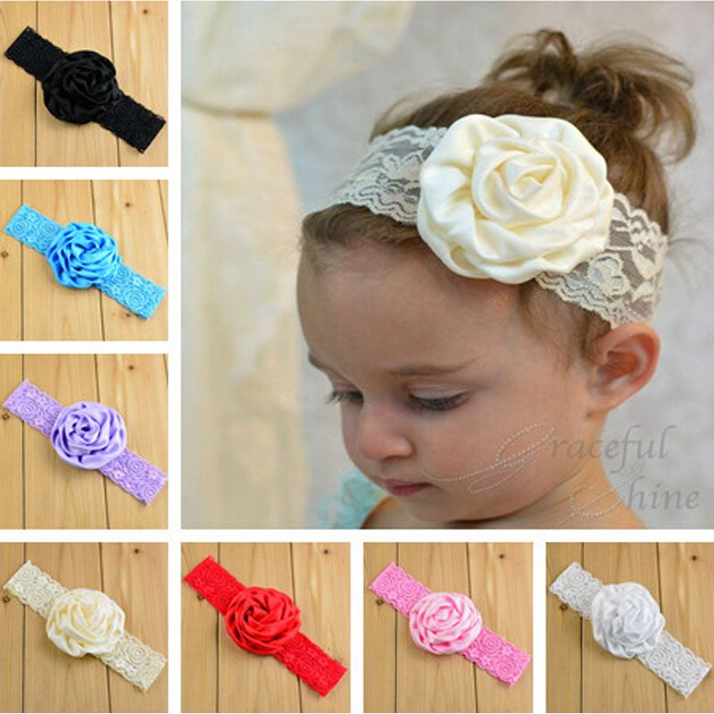 Click to Buy    Headband BabyGirls Lace Flower Hair band InfantHair  Accessories Newborn.    6d0338369710