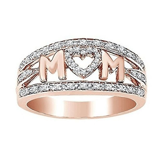 Women Fashion Accessories Family Mom Letter Ring Mother/'s Day Gift Jewelry