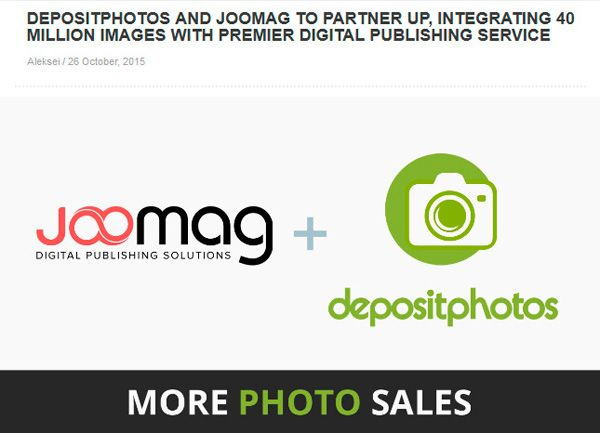Depositphotos и Joomag объявили о партнерстве - Блог стокового фотографа Nemetz83