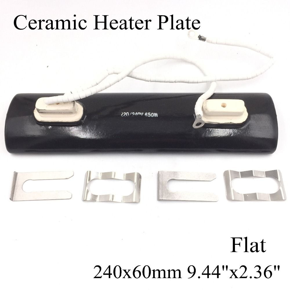 check price 220v 240x60mm double head flat black ir infrared ceramic heater plate air heating board  sc 1 st  Pinterest & check price 220v 240x60mm double head flat black ir infrared ceramic ...