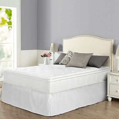 Zinus Night Therapy Icoil 12 Euro Box Top Spring Mattress And Smartbase Bed Frame Set Twin Sam S Club Bed Frame Sets Bed Frame Mattress Bed Frame