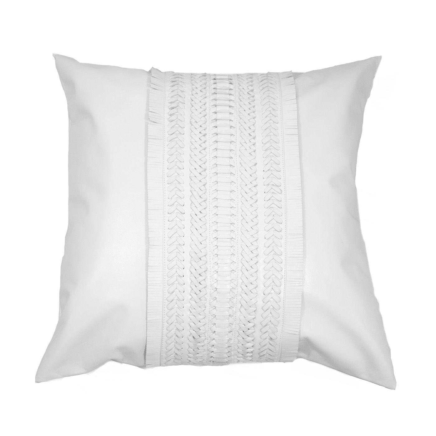 Voyager White Leather Medium Cushion x