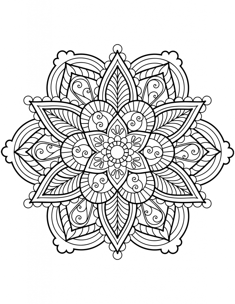 Flower Mandala Coloring Pages Mandala Coloring Pages Flower