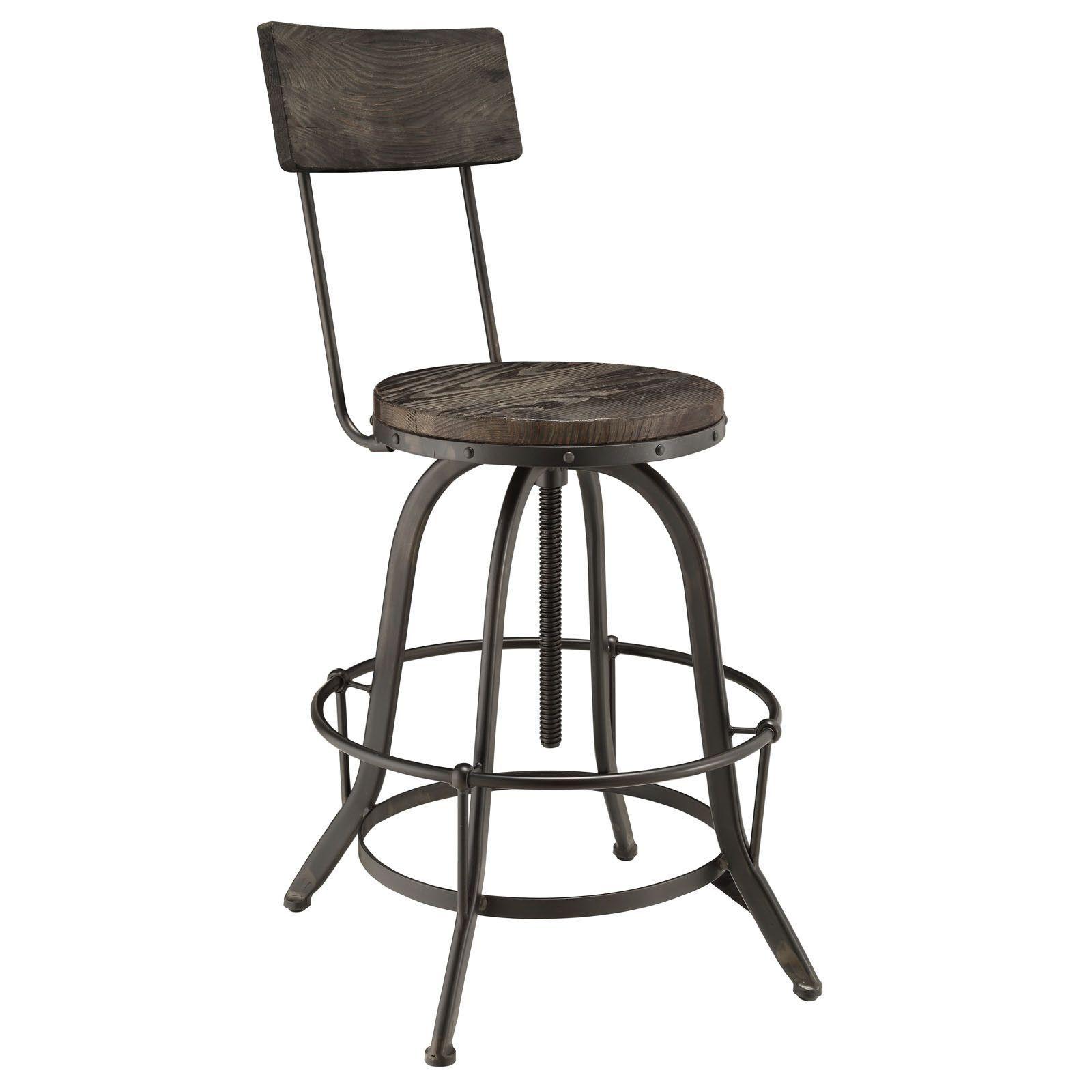 Industrial Modern Wood Bar Stool Bar Stools Adjustable Bar Stools Bar Table And Stools