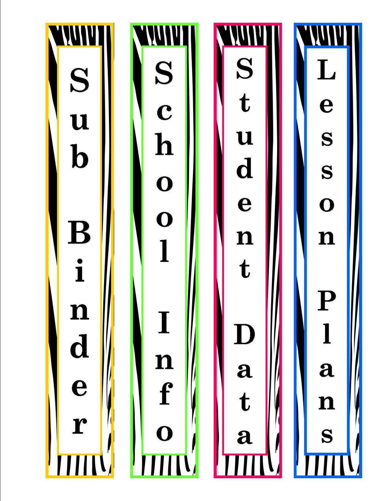 Ideas For Binder Covers Binder Spine Labels Binder Labels Spine Labels