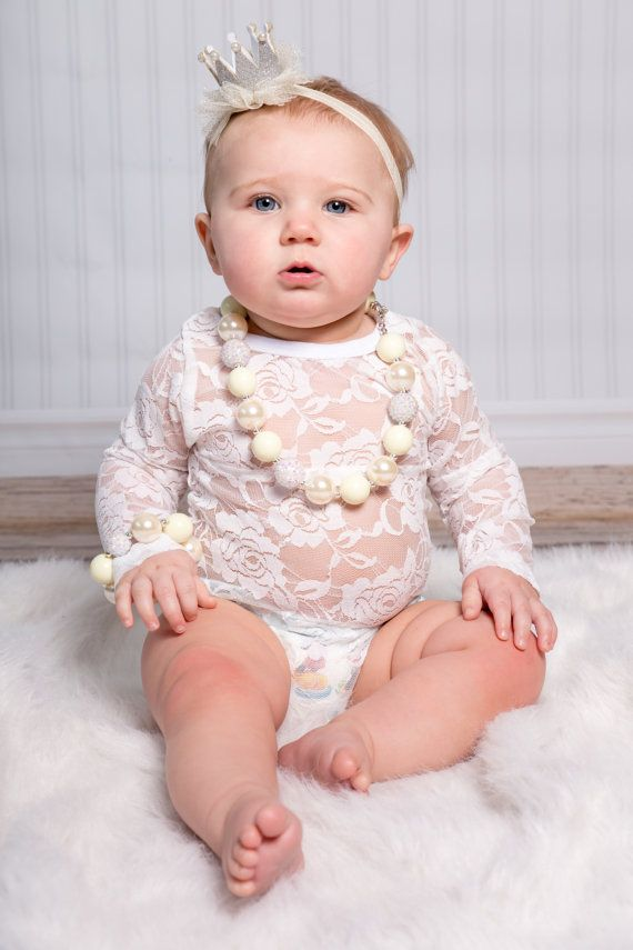 7b582a4da5 Long Sleeve Lace Onesie Bodysuit-White Lace by CountryCoutureCo Lace Leotard