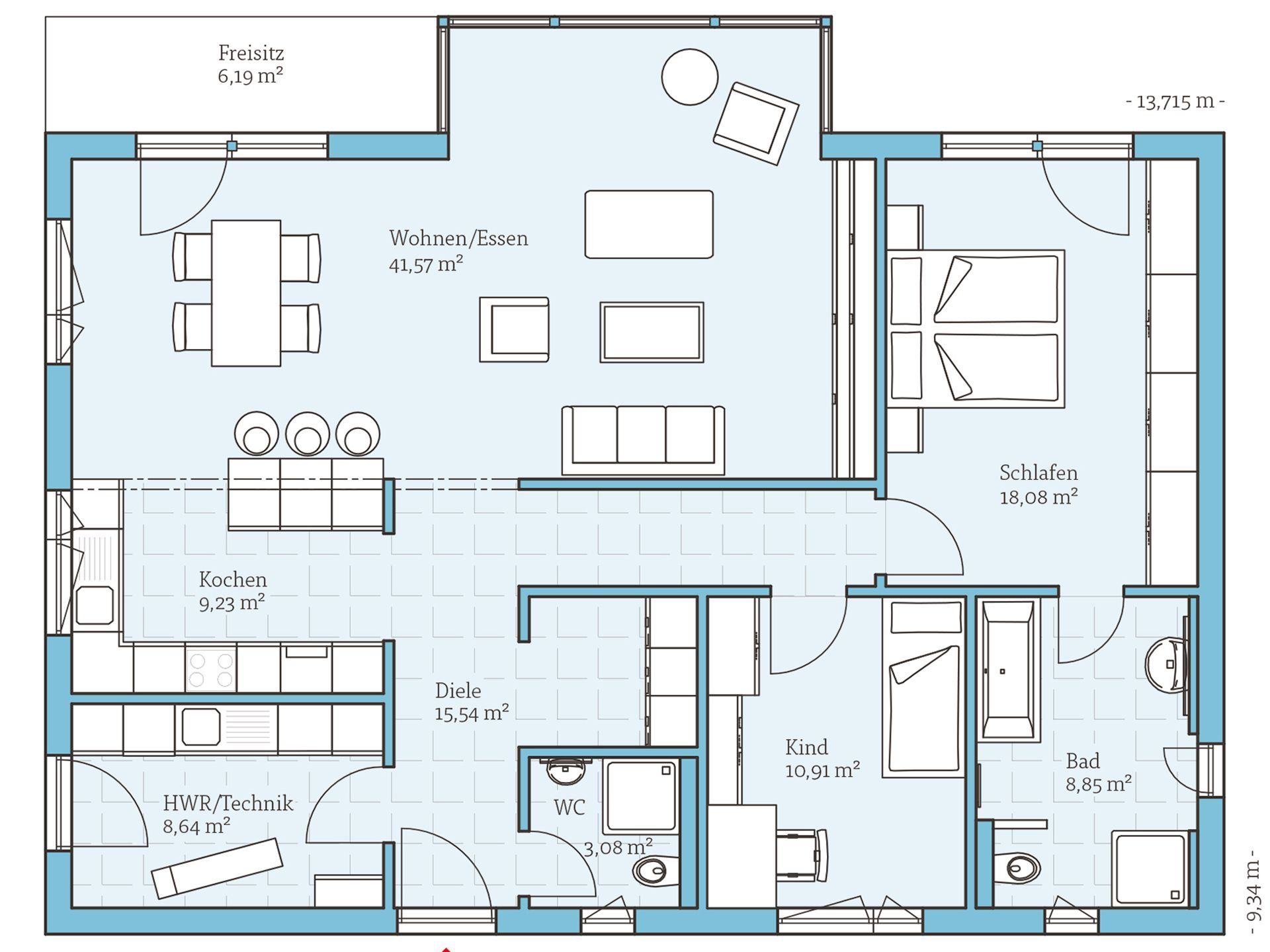 One Storey House, Bungalow Und