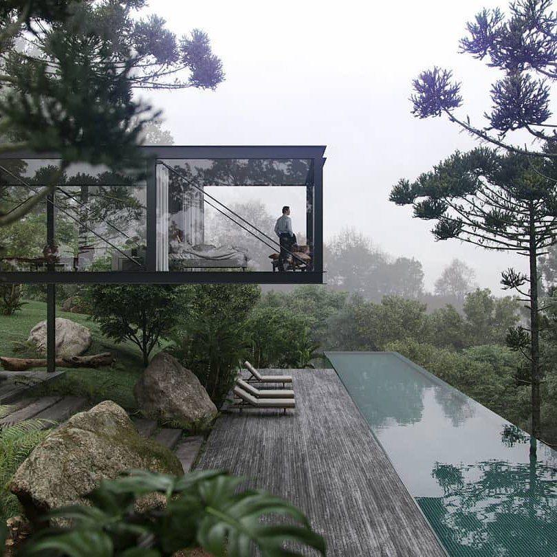 "Photo of Artsytecture su Instagram: ""Stunning House and Cantilever. Progettato da @tripperarquitetura ?: @studiovir #artsytecture """