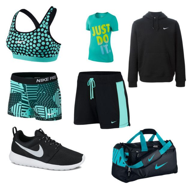 """""""P.E"""" by kateelizabethbyrneee ❤ liked on Polyvore featuring NIKE, women's clothing, women's fashion, women, female, woman, misses and juniors"""
