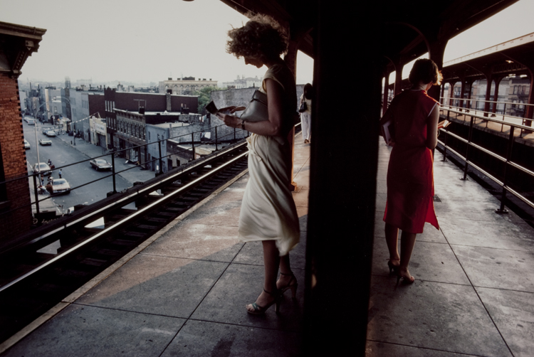 © Bruce Davidson, Two Women on Platform, Subway, 1980. Gift of the artist to the Arthur Ollman Tribute Collection.