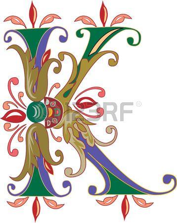Laub englische Alphabet Buchstaben K Farbiger Lizenzfreie Bilder ...