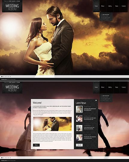 Wedding Album Website Template New Website Templates Pinterest